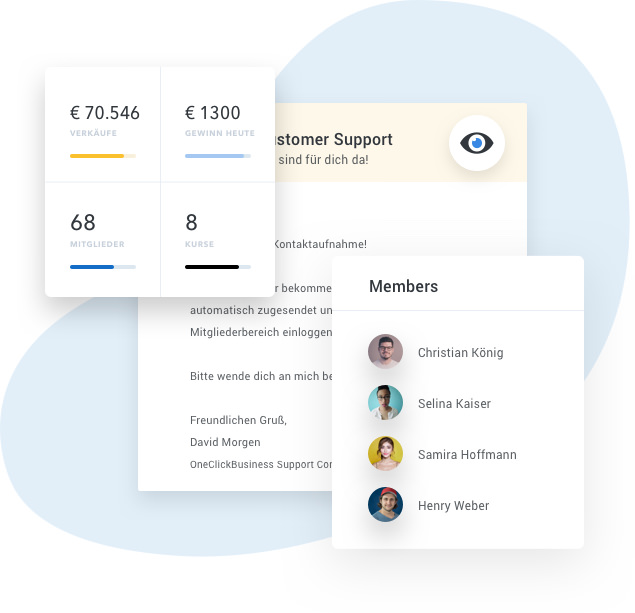 Abbildung Member und Zahlungen
